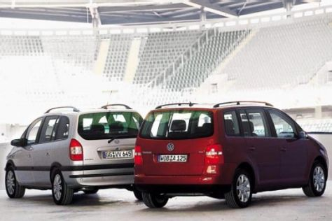 VW Touran gegen Opel Zafira