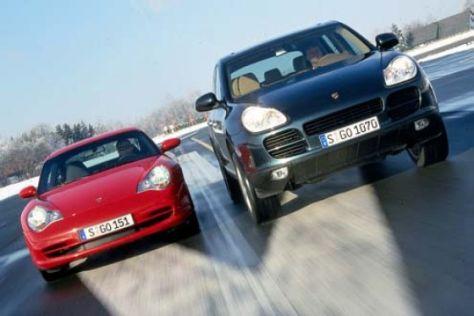 Porsche Cayenne S gegen Porsche 911 Carrera