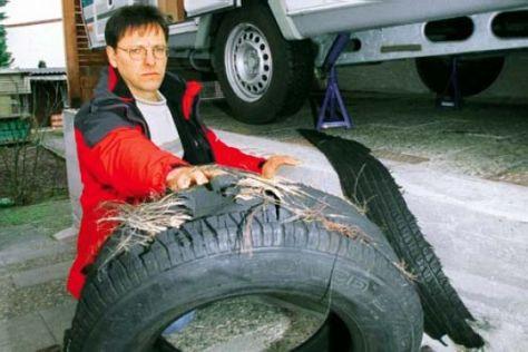 Reifenmängel an Wohnmobilen