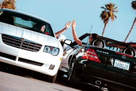 Chrysler Crossfire und Mercedes-Benz SLK