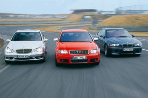Audi S4, BMW M3 und Mercedes-Benz C 32 AMG