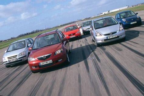 Fiesta, Jazz, Getz, Mazda2, Micra, Polo