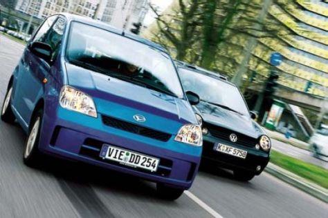 Daihatsu Cuore gegen VW Lupo