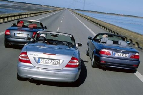 Cabrio-Vergleich A4 3.0, 330Ci, CLK 320