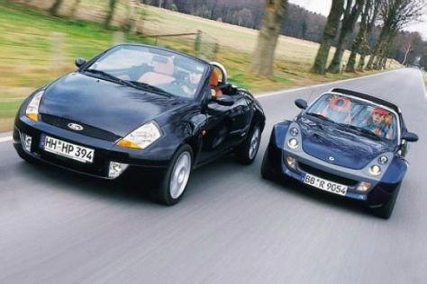 Smart roadster und Ford Streetka