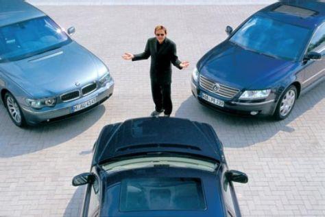BMW 760Li, Mercedes S 600 L, VW Phaeton W12