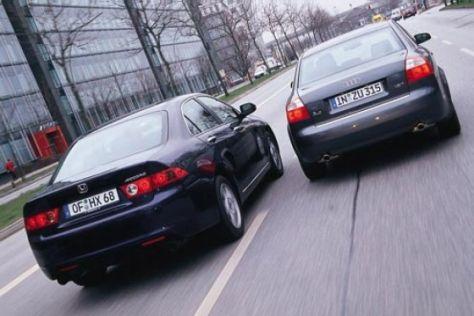 Audi A4 1.8 T gegen Honda Accord 2.4