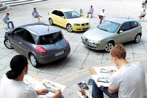 Alfa 147 gegen Audi A3 und Renault Mégane