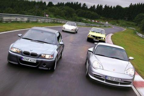 BMW M3 CSL und Porsche GT3