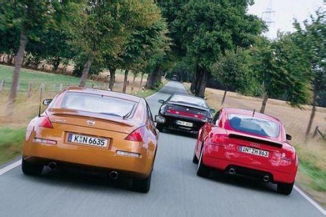 Nissan 350Z gegen Alfa GTV und Audi TT