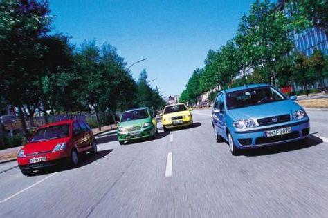 C3 gegen Punto, Fiesta und Fabia