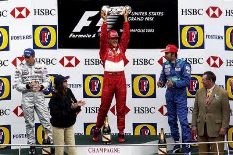 Michael Schumacher gewinnt GP der USA