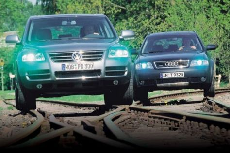 VW Touareg gegen Audi allroad