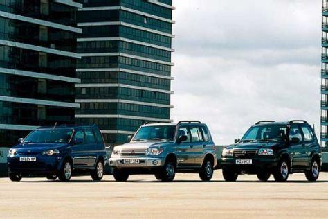 Drei preisgünstige SUV
