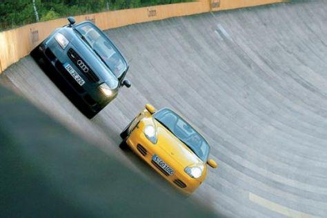Audi TT Roadster 3.2 gegen Porsche Boxster S