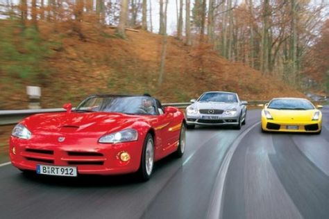 Supersportwagen im Vergleich