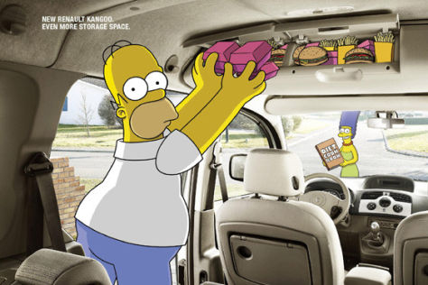 Simpsons in Renault Kangoo-Werbung