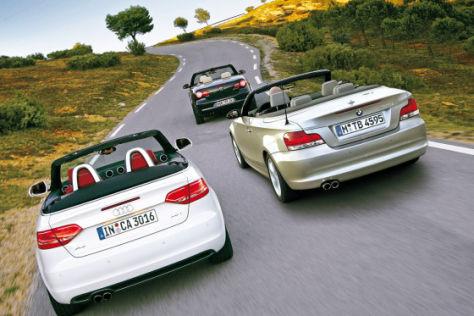 VW Eos 2.0 TSI BMW 125i Cabrio Audi A3 Cabrio 2.0 TFSI