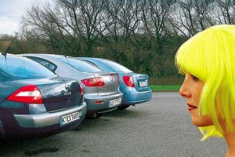 Mégane gegen Mazda3 und Nubira