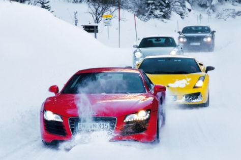 Supersportler im Schnee