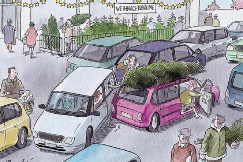 Unfall auf dem Supermarkt-Parkplatz