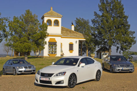 Lexus IS F Mercedes-Benz C 63 AMG BMW M3