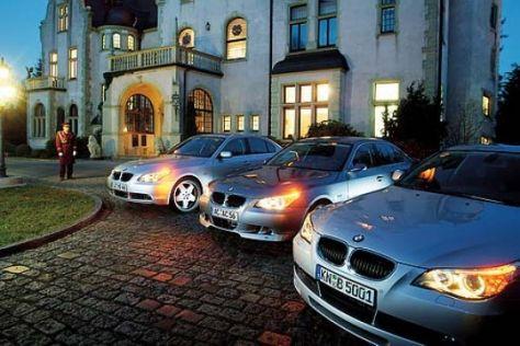 Drei getunte BMW 530d