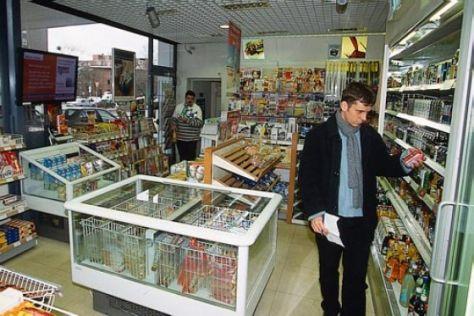 Einkauf an der Tankstelle
