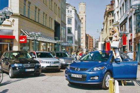 BMW X3 3.0si  Nissan Murano 3.5 V6 Land Rover Freelander i6 Mazda CX-7 2.3 MZR