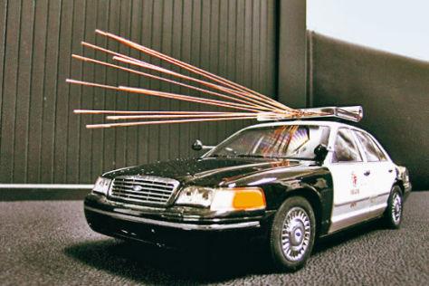 US-Polizeifahrzeug mit Mikrowelle