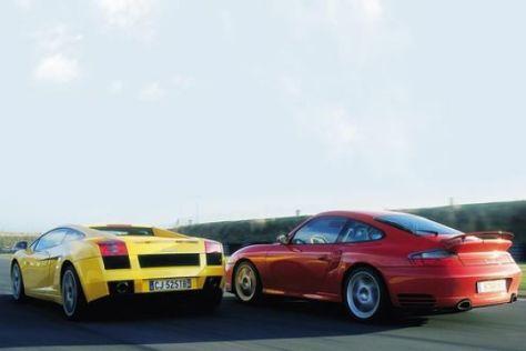 Porsche Turbo gegen Lamborghini Gallardo