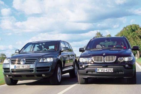 BMW X5 4.4i gegen VW Touareg V8