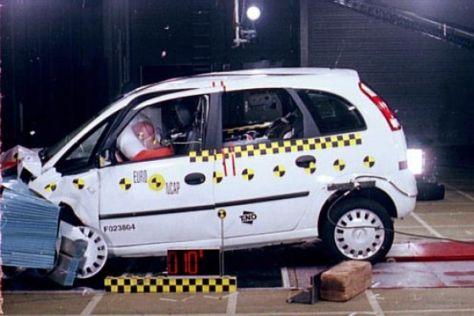 Kleinwagen im EuroNCAP-Test