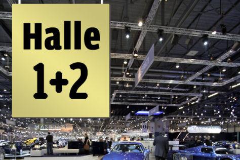 Genfer Salon, Halle 1 und 2