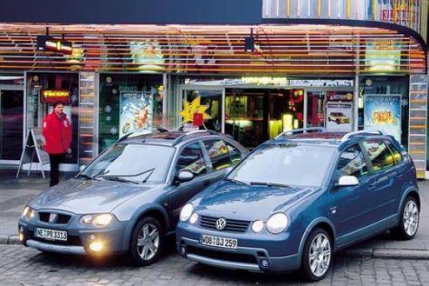VW Polo Fun TDI und Rover Streetwise R2