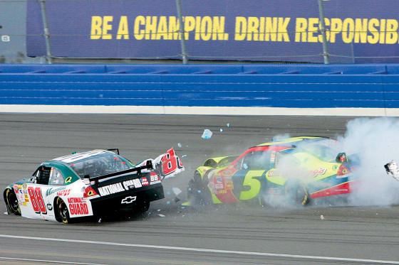 NASCAR Sprint-Cup 2008, Fontana/Kalifornien, Earnhardt jr. (88), Casey Mears (5)