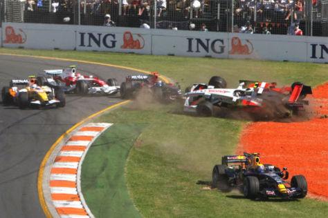 Formel 1, Australien 2008, 1. Kurve