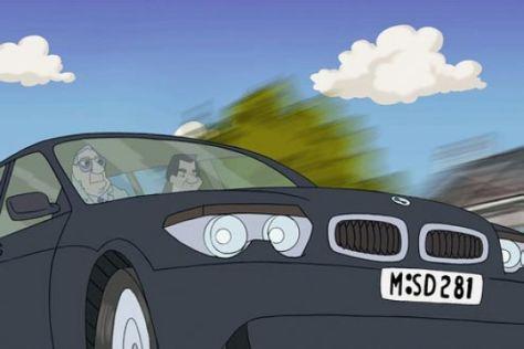 BMW 7er im Kino-Krimi