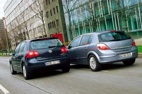 Vergleich Opel Astra/VW Golf