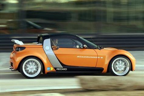 Sechs getunte Smart roadster