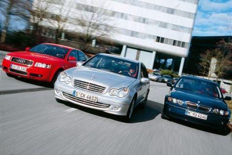 C 230 K gegen BMW 325i und Audi A4 1.8 T