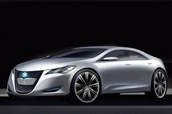 Studie Kizashi 3, mit der Suzuki in die Mittelklasse vorpreschen will und ab 2010 gegen Audi A4 und 3er BMW antritt