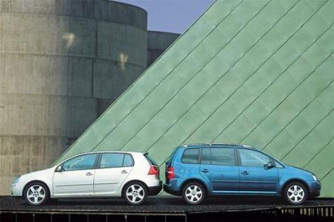 VW Golf gegen VW Touran