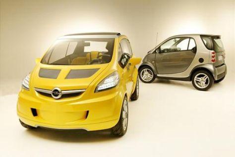 Opel Trixx gegen Smart fortwo