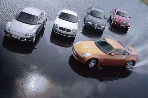 Alfa GT, Audi TT, Crossfire, RX-8 und 350Z