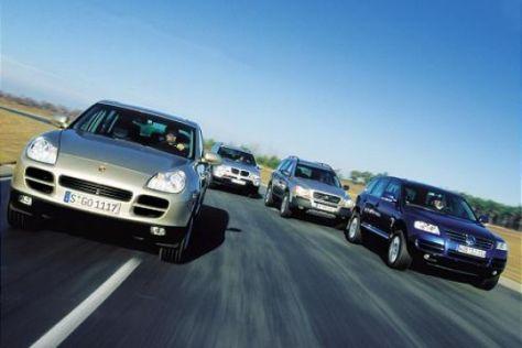 Cayenne gegen X5, Touareg und XC90