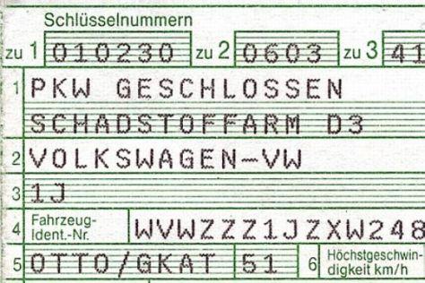 Neue Kfz-Papiere ab 2005