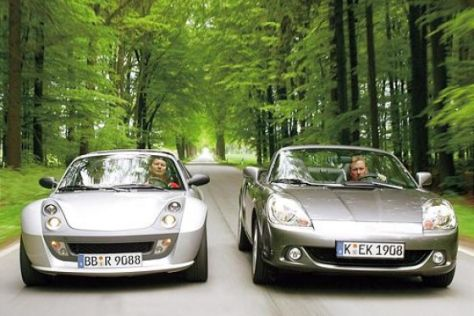 Smart roadster Brabus und Toyota MR2