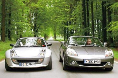 Smart roadster Brabus und Toyota MR2