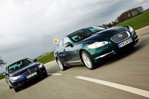 Jaguar XF V8, BMW 550i
